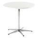 Cafébord Ø 80 cm. Højde 75 cm. - hvid
