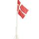 Flagstang m. DK-flag 175 cm.